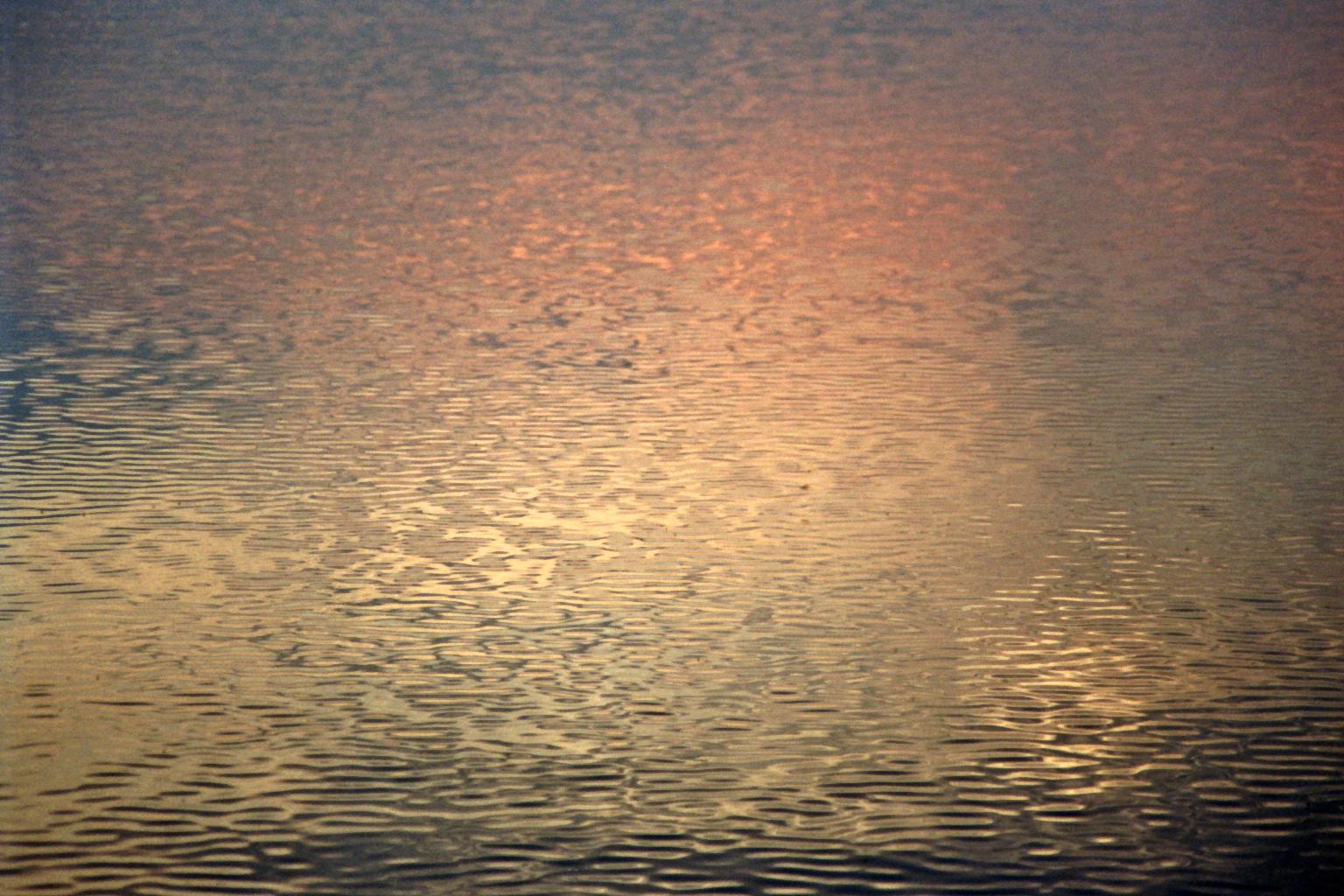 Sonnenuntergangswellen