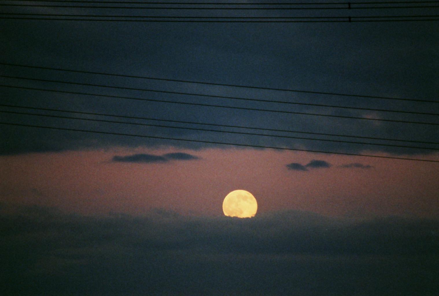 Aufgehender Mond