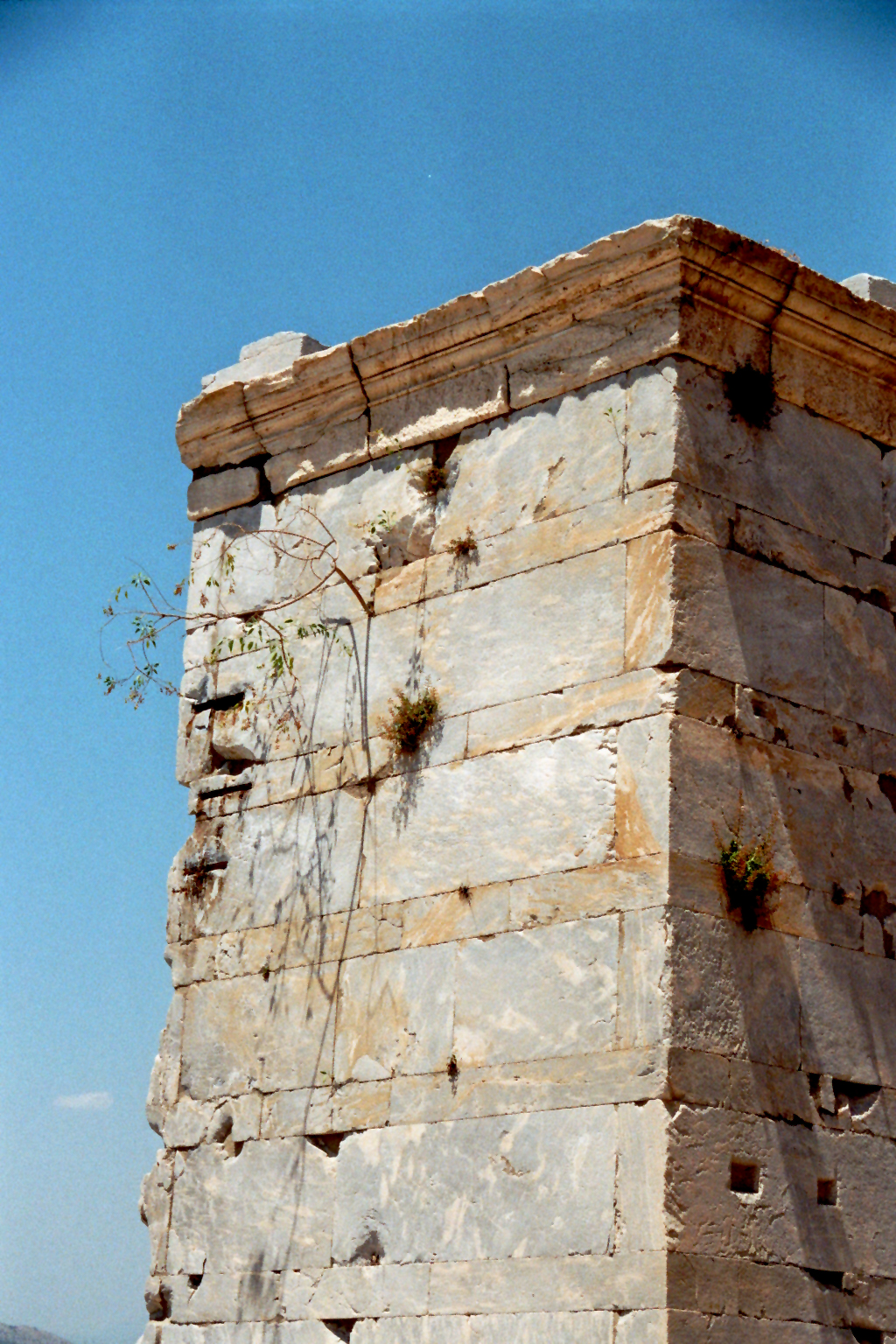 Akropolis Mauerstreifen Propylaia
