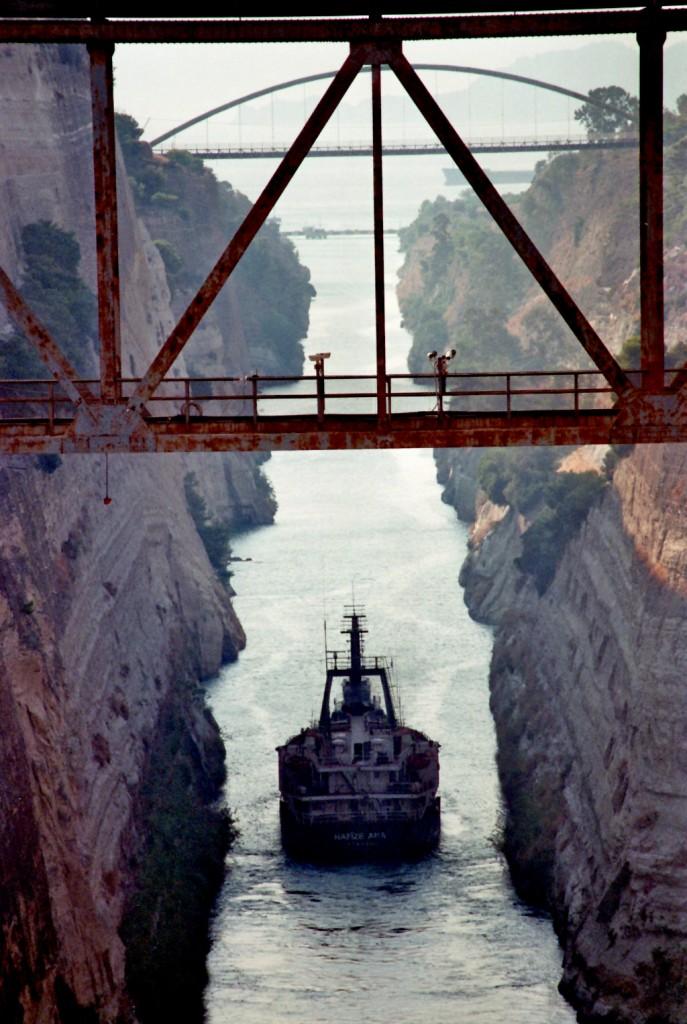 Der Kanal von Korinth wird passiert