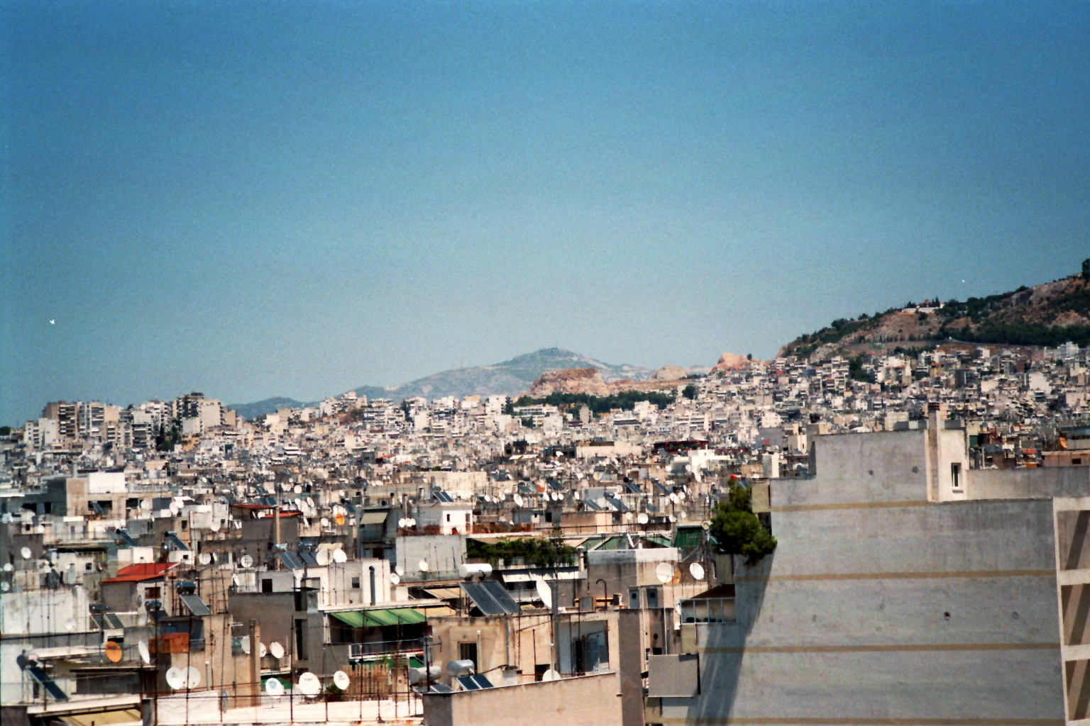 Das Häusermeer von Athen