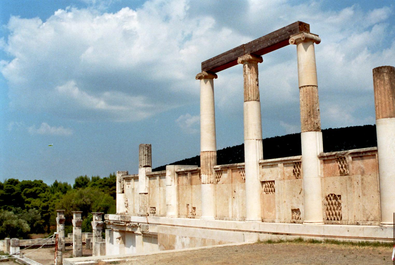 Epidauros: Die Überreste des Abaton