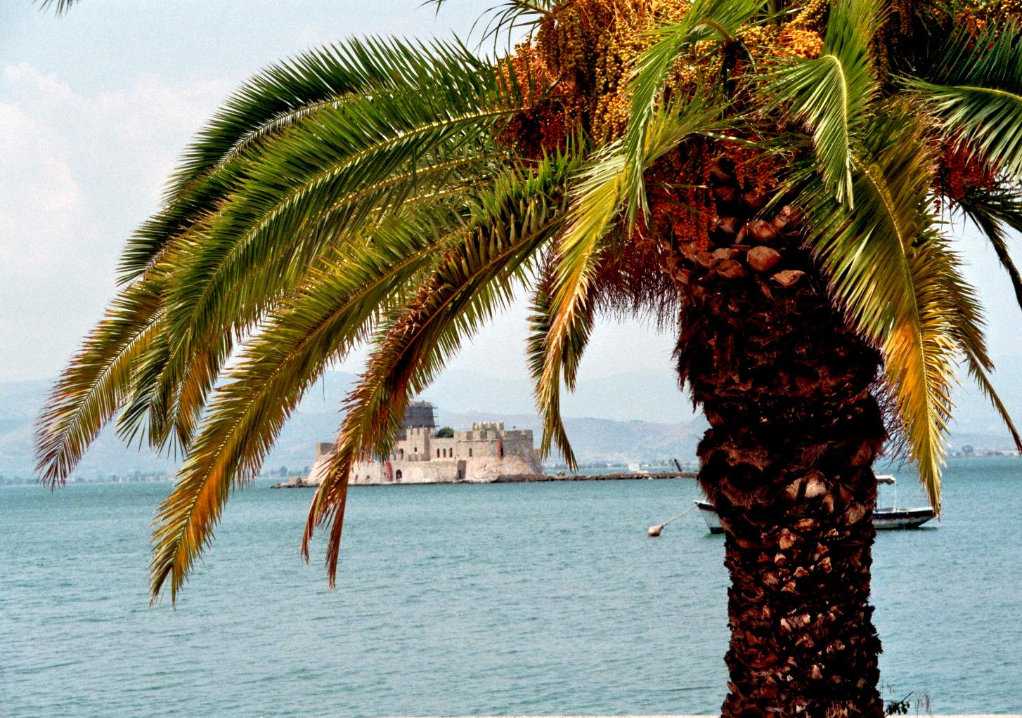 Schöne Aussicht auf die Burg (Nafplio)