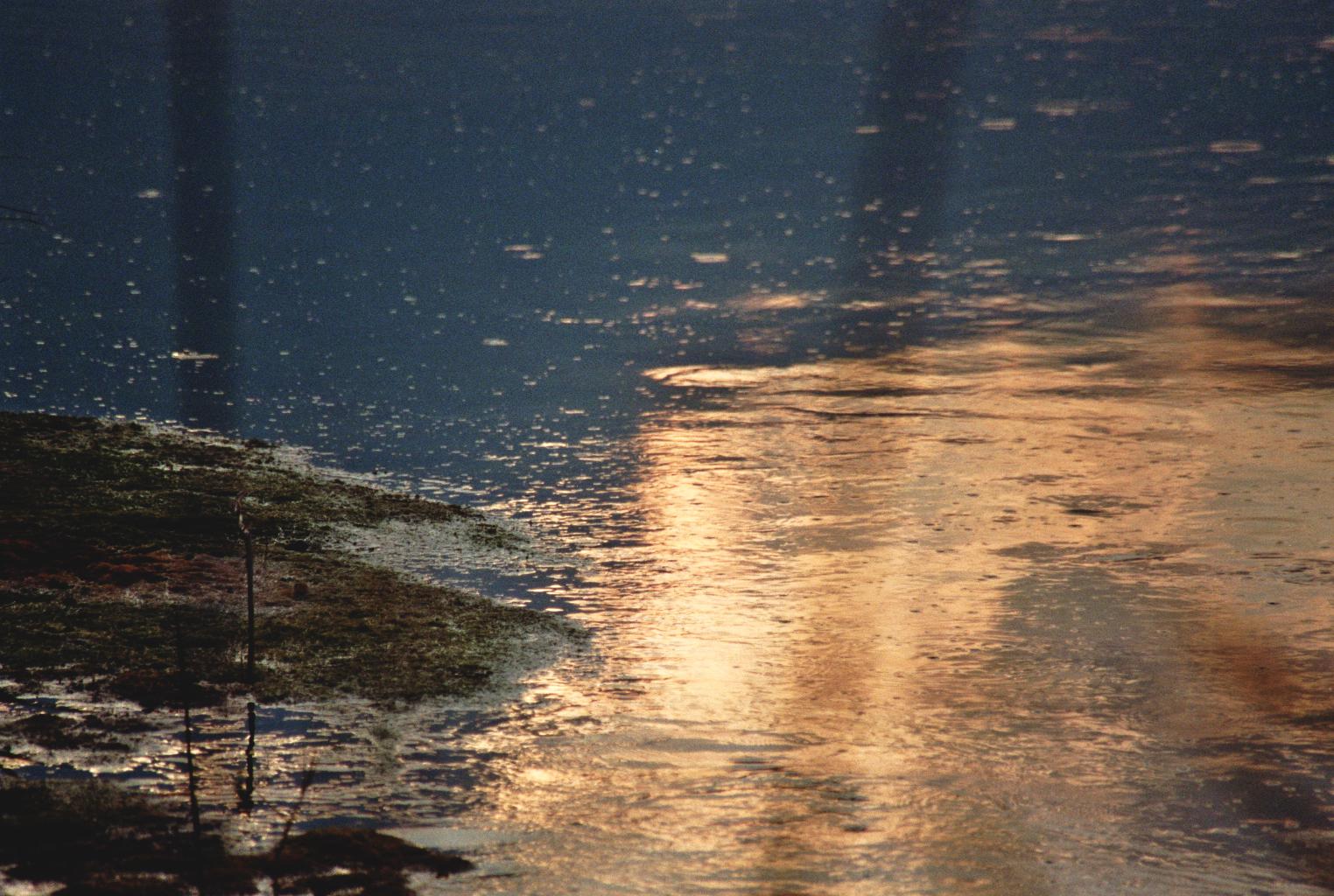 Abendlichtwasseroberfläche