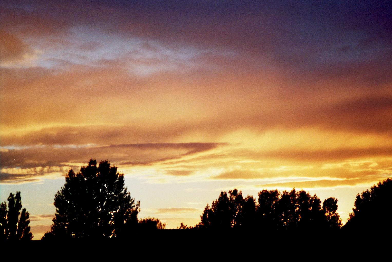 Sonnenuntergang Feuerwolken