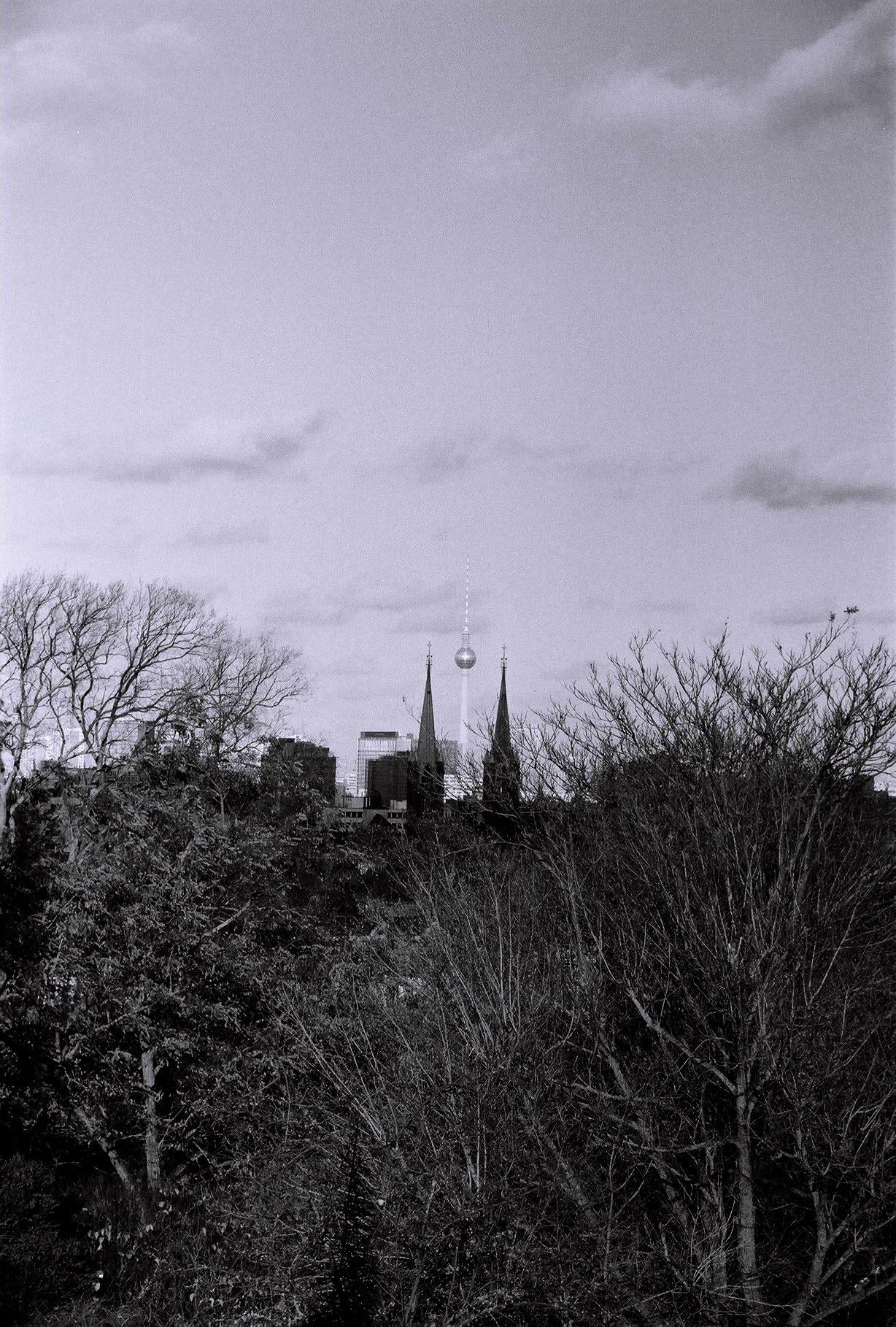 Blick vom Kreuzberg auf den Fernsehturm