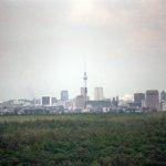 Berlin unter Regenwetter - Blick vom Grunewaldturm