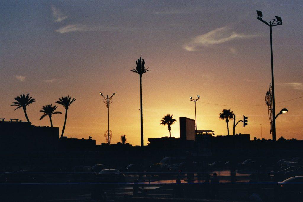 Blaue Stunde über Marrakesch