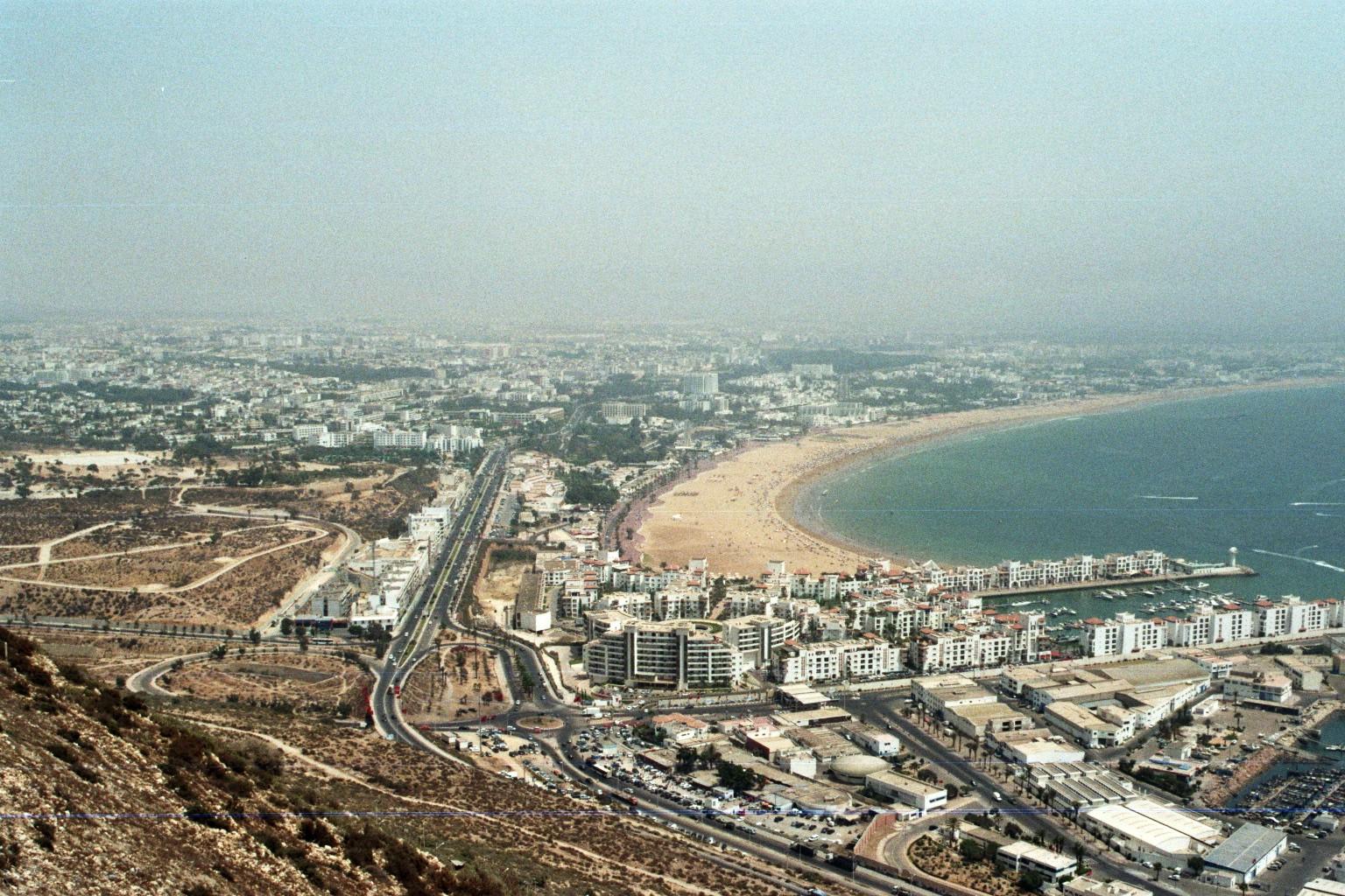 Blick von der Kasbah auf Agadir
