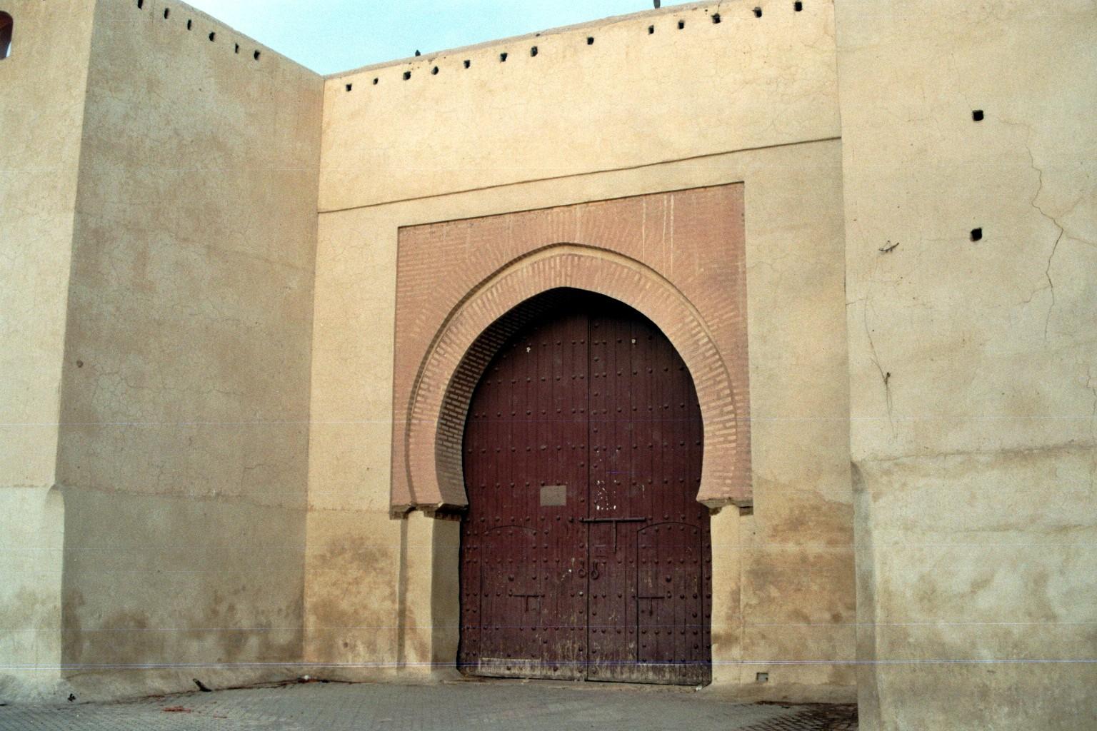 Geschlossenes Stadttor Marrakesch