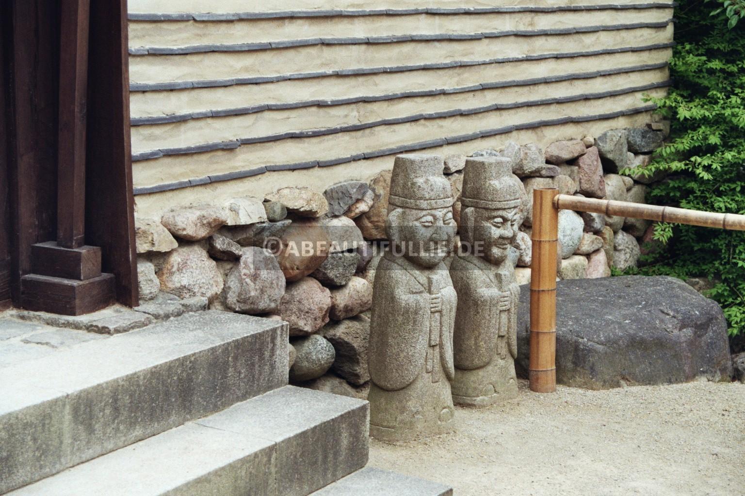 Steinerne Totempfähle Koreanischer (Seouler) Garten