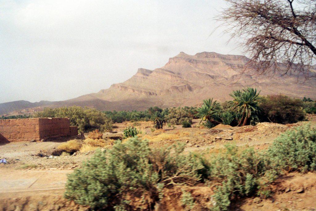 Das Drâa-Tal im 3-D-Effekt