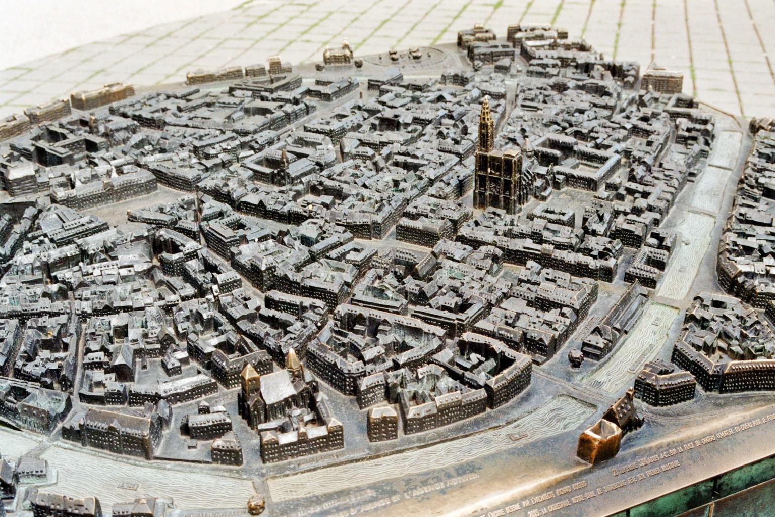 Miniatur architektonisches Modell der Stadt Straßburg