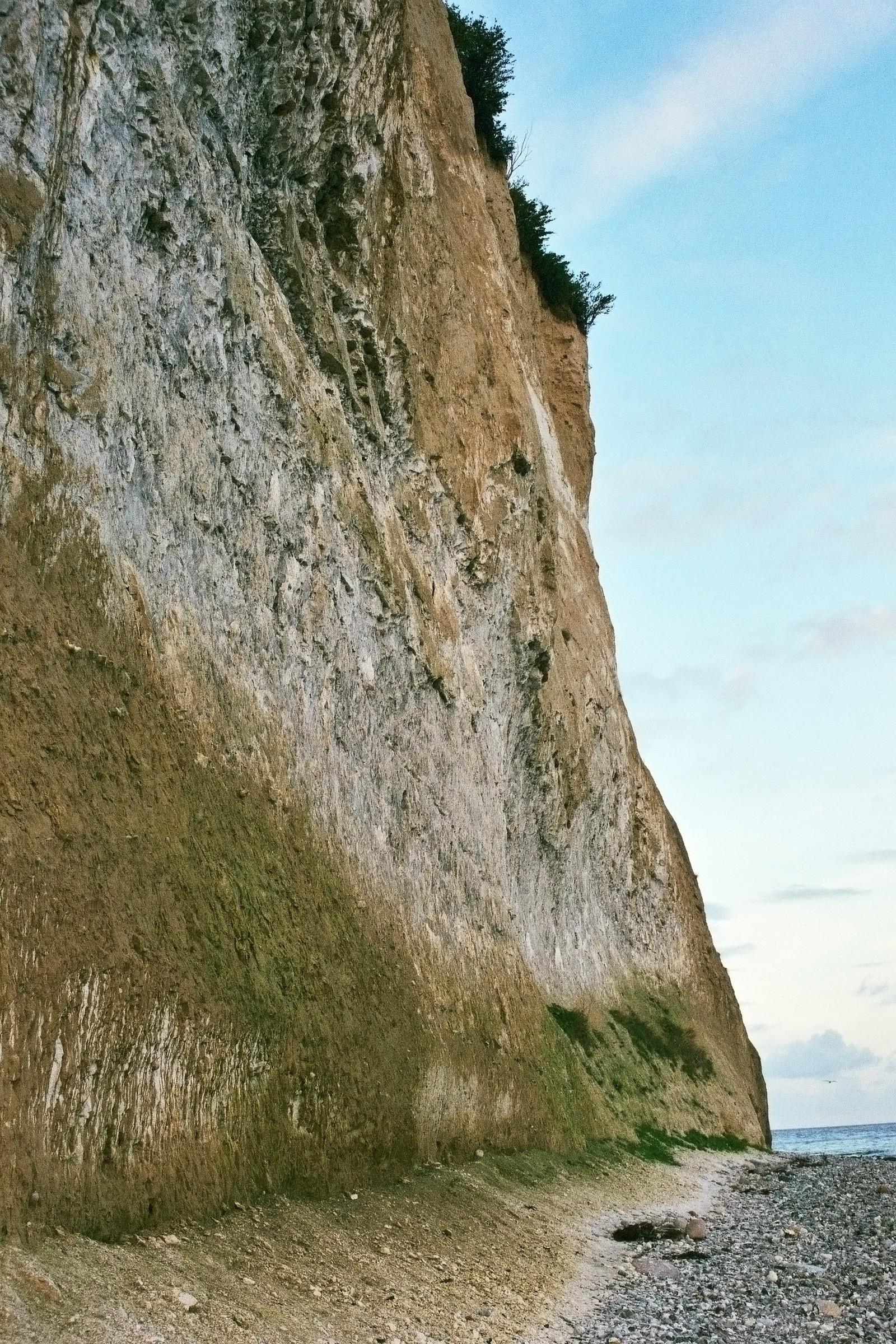 Felswand von unten