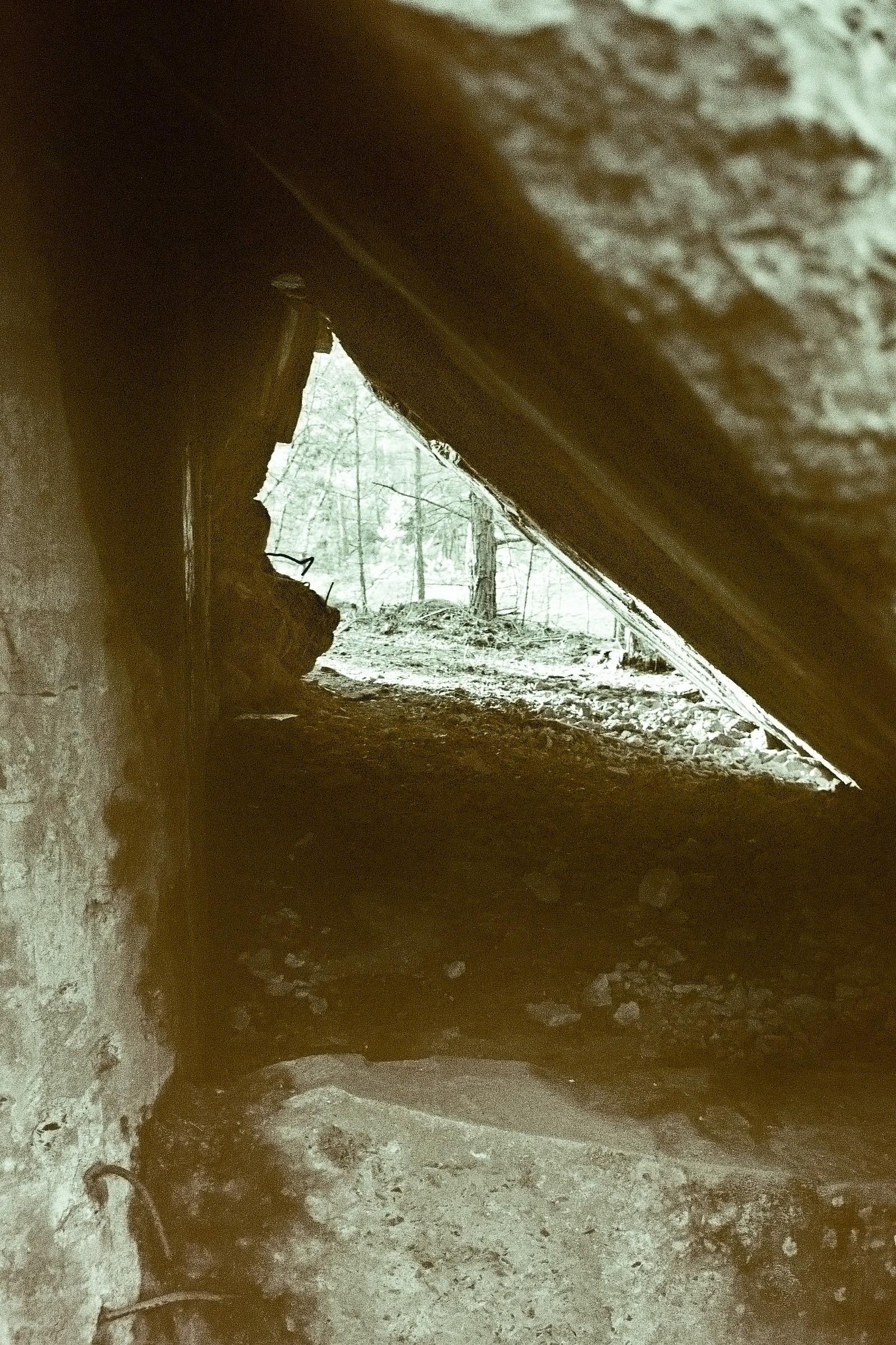 Durch das Bunkerdach geschaut