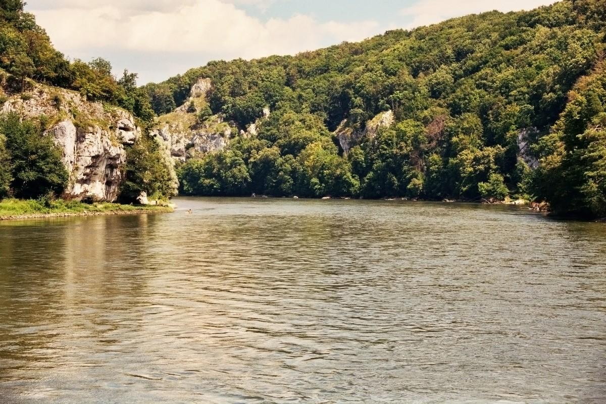 Mit der Donauströmung