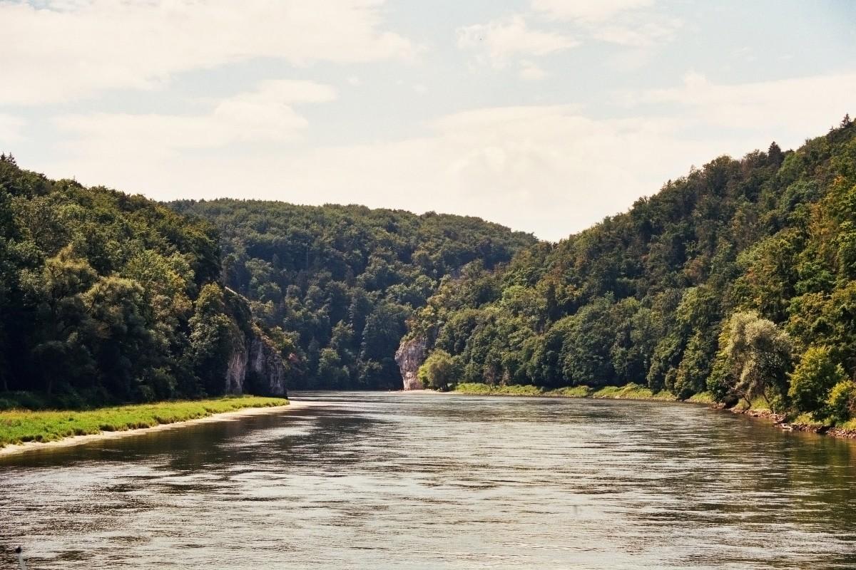 Blick auf die Weltenburger Enge (Donau)