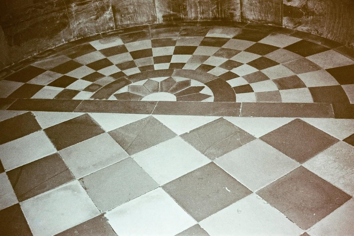 Fußbodenmosaik