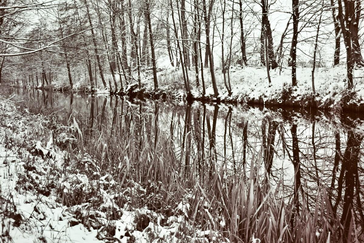 Wasser und Schnee