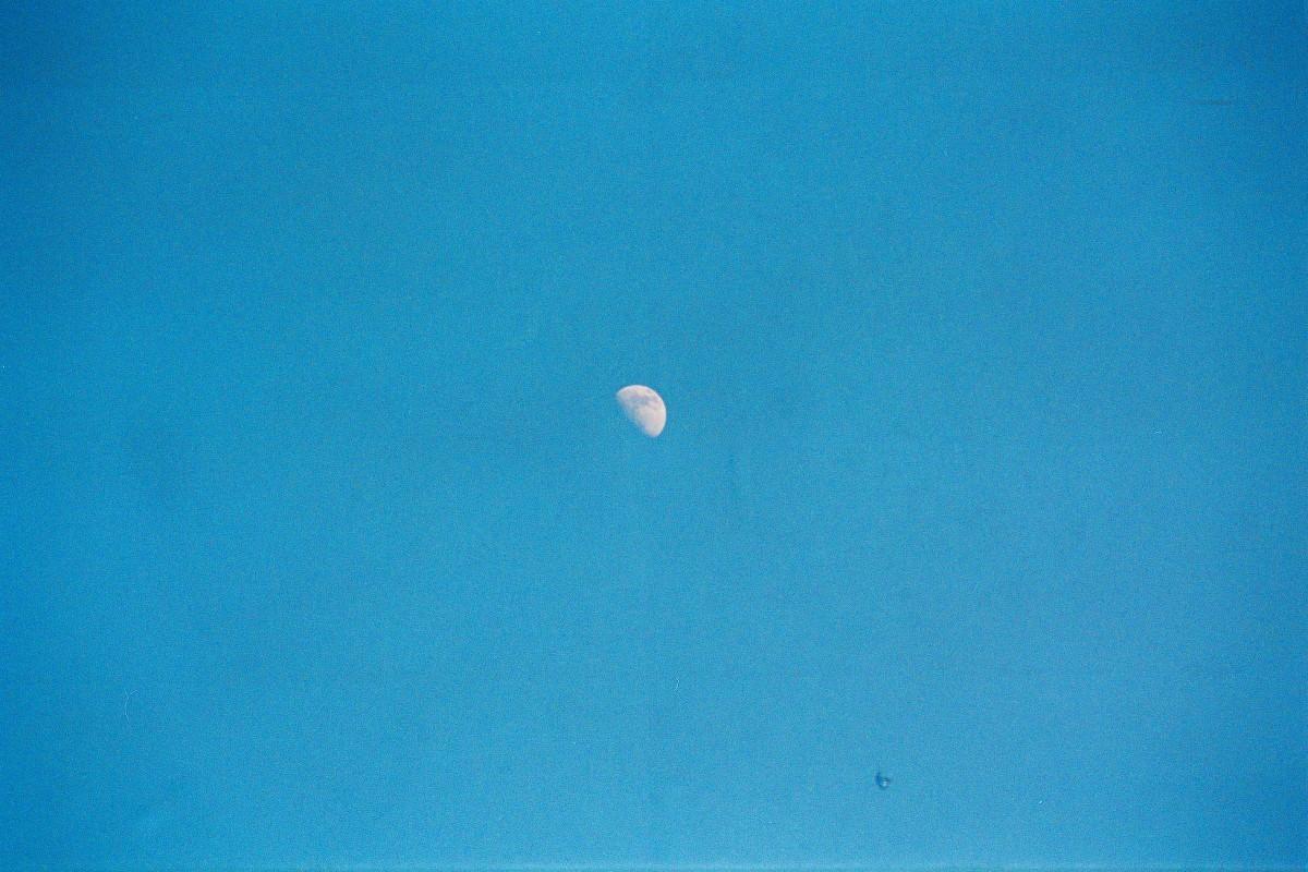 Klarer Himmel mit Mond